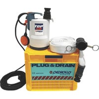 Pedrollo Plug & Drain Submersible Pump Kit — Includes Pump, Hose, Filter and Crate, Model# PLUG & DRAIN TOP 2 FLO