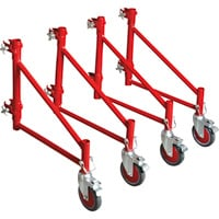 Metaltech BuildMan Outriggers with Casters, Model# I-BM604 — Set of 4, Fits BuildMan 6ft. Portable Scaffolding System, Model# I-BM6S