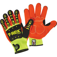 Magid T-Rex High Visibility Impact Utility Gloves — Lime, Large