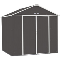 FREE SHIPPING — Arrow EZEE Shed Steel Storage Shed— 8ft. x 7ft., High Gable