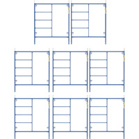 Metaltech Saferstack 6ft. x 5ft. Mason Frame Kit — 8-Pack, Model# M-MF7260PSK8