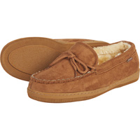 Men's Faux Sheepskin Moccasins — Chestnut