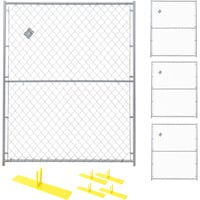 Jewett-Cameron 4-Panel Perimeter Patrol Kit — Temporary Fencing Panels, Each 5ft. x 6ft., Model# RF 0505 CL