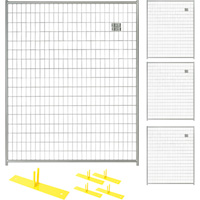Jewett-Cameron 4-Panel Perimeter Patrol Kit — Temporary Fencing Panels, Each 5ft. x 6ft., Model# RF 0505 WWG