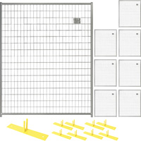 Jewett-Cameron 8-Panel Perimeter Patrol Kit — Temporary Fencing Panels, Each 5ft. x 6ft., Model# RF 1010 WWG