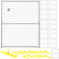 Jewett-Cameron 12-Panel Perimeter Patrol Kit — Temporary Fencing Panels, Each 5ft. x 6ft., Model# RF 1020 CL