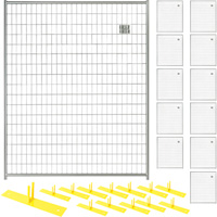 Jewett-Cameron 12-Panel Perimeter Patrol Kit — Temporary Fencing Panels, Each 5ft. x 6ft., Model# RF 1020 WWG