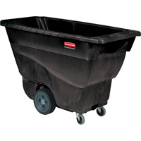 Rubbermaid Structural Foam Tilt Truck— 400-Lb. Capacity, Black, Model# FG9T1300BLA