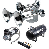 Wolo Siberian Express Chrome Pro Plus Train Horn — 3 Trumpets, 5-Gal., 152 dB, Model# 850-860