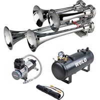 Wolo Philly Express Pro Train Horn — 4 Trumpets, 2.5-Liter, 130 dB, Model# 853-800