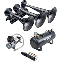 Wolo Express Pro Train Horn — 3 Trumpets, 2.5-Gal., 128 dB, Model# 855-858