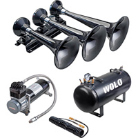 Wolo Express Pro Plus Train Horn — 3 Trumpets, 5-Gal., 128 dB, Model# 855-860