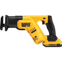 FREE SHIPPING — DEWALT 20V MAX Li-Ion Cordless Compact Reciprocating Saw Kit — 0-2900 SPM, 1 Battery, Model# DCS387D1