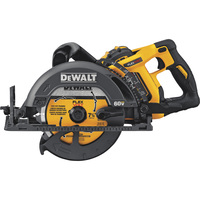 FREE SHIPPING — DEWALT FLEXVOLT 60V MAX 7 1/4in. Li-Ion Cordless Worm Drive-Style Framing Saw Kit — 5800 RPM, 1 Battery, Model# DCS577X1