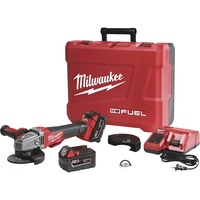 FREE SHIPPING — Milwaukee M18 Fuel 4 1/2in./5in. Braking Grinder Kit — With 1 Battery, 18 Volt, Model# 2783-22