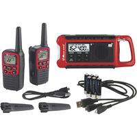 Midland ER210 E+Ready Emergency Crank Radio — 26-Mile Range, 2-Pk.
