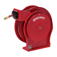 Reelcraft Air/Water Spring Retractable Hose Reel — With 1/2in. x 50ft. PVC Hose, Max. 300 PSI, Model# A5850 OLP