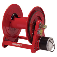 Reelcraft 12 Volt DC Motor Rewind Hose Reel — Holds 3/4in. x 175ft. Hose, Model# EA33118L 12D