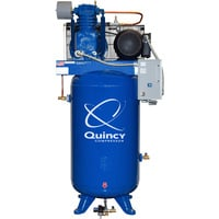 Quincy QT-7.5 Splash Lubricated Reciprocating Air Compressor with MAX Package – 7.5 HP, 460 Volt, 3 Phase, 80 Gallon Vertical, Model# 273D80VCB46M