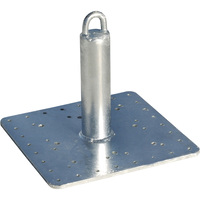 RoofZone Commercial Roof Anchor — 16in.L x 16in.W Square Base, Model# 48591