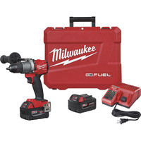FREE SHIPPING — Milwaukee M18 FUEL Li-Ion Cordless Hammer Drill/Driver Kit — With 2 Batteries, 1/2in. Keyless Chuck, 2000 RPM, 32,000 BPM, Model 2804-22