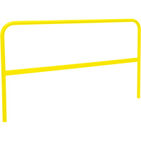 RoofZone Universal Guardrail — Yellow, 5ft.L x 42in.H, Model# 70760