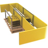 RoofZone Guardrail Stack Pallet Kit — 110ft. x 42in., Yellow, Model# 70762