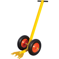Tie Down Engineering, Inc. RoofZone Guardrail Zip Base Dolly with Flat-Free Tires —59in.L x 24in.W, Yellow, Model# 70767