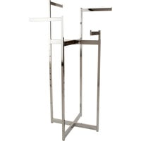 Econoco Adjustable 4-way Folding Space Saver Rack — Chrome, 48in.–72in.H, Model# K150