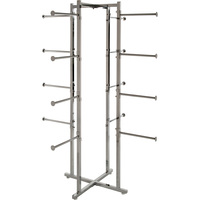 Econoco Retail Lingerie Display Rack with 16 Tubular Arms — Chrome, 61in.H, Model# K35