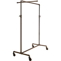 Econoco Pipeline Adjustable Ballet Rack with 1 Cross Bar — Anthracite Gray, 44in.–72in.H, Model# PSBBCB1ADJ