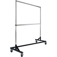 Econoco Add-On Hangrail for Rolling Rack RZK/8 — Chrome, 60in.L x 1 1/4in. Diameter, Model# RZH/62