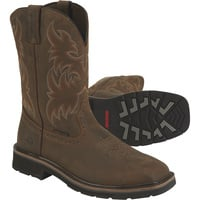 FREE SHIPPING — Wolverine® 10in. Rancher Work Boots — Dark Brown/Rust, Model# W10704