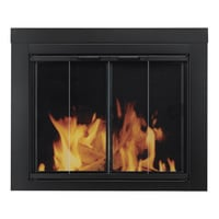 Pleasant Hearth Ascot Fireplace Glass Door — For Masonry Fireplaces, Medium, Black, Model# AT-1001