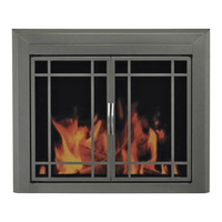 Pleasant Hearth Edinburg Fireplace Glass Door — For Masonry Fireplaces, Large, Gunmetal, Model ED-5412