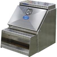 American Truckboxes Aluminum Heavy-Duty Step Truck Box — Smooth/Diamond Plate, 18in.W x 20in.D x 24in.H
