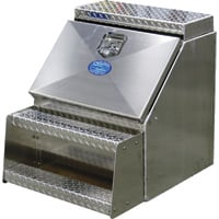 American Truckboxes Aluminum Heavy-Duty Step Truck Box — Smooth/Diamond Plate, 24in.W x 20in.D x 24in.H