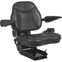A & I Products Big Boy Suspension Tractor Seat — Black, Model# BBS108BL