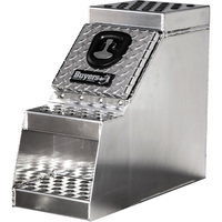 Buyers Products Aluminum Heavy-Duty Step Truck Box — Smooth/Diamond Plate, 30in.W x 28in.D x 24in.H