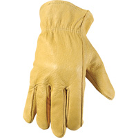 Wells Lamont Full-Grain Pigskin Driver Gloves — Light Tan