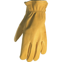 Wells Lamont Men's Deerskin Driver Gloves — Gold