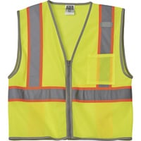 Gravel Gear HV Men's Class 2 High Visibility Contrast Mesh Vest — Lime