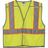 FREE SHIPPING — Gravel Gear HV Men's Class 2 High Visibility Contrast Mesh Breakaway Vest
