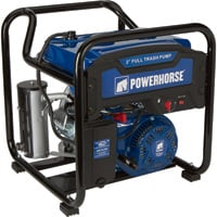 Powerhorse Extended Run Full Trash Water Pump — 2in. Ports, 11,000 GPH, 3/4in. Solids Capacity, 212cc OHV Engine, Model# DS20W