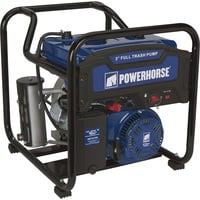 Powerhorse Extended Run Full Trash Water Pump — 3in. Ports, 11,820 GPH, 1 1/8in. Solids Capacity, 212cc OHV Engine, Model# DS30W