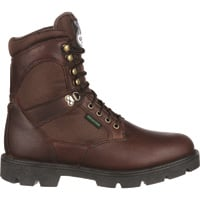FREE SHIPPING — Georgia Homeland Men's Waterproof 8in. Soft Toe Work Boots — Brown, Model# G108