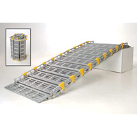 Roll-A-Ramp Roll-Away Aluminum Loading Ramp — 775-Lb. Capacity, 10ft.L x 36in.W, Model# A13609A19