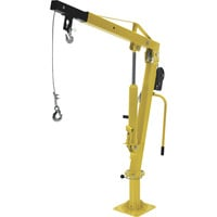Vestil Hydraulic Pickup Truck Jib Crane With Hand Winch — Extended: 500 lbs. /Retracted: 1,000-lbs.,  Model# WTJ-2