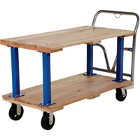 Vestil Double Decker Hardwood Platform Cart