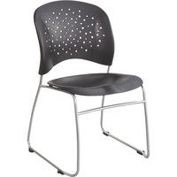 Mayline Safco Reve Guest Chair Set with Sled Base and Round Back — 2 Chairs